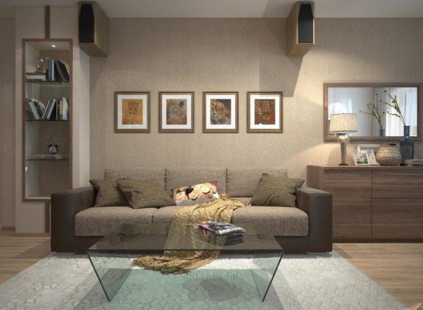 Мебель в гостиной: диван на заказ по индивидуальным размерам в Москве от мебельного ателье ААА-Классика