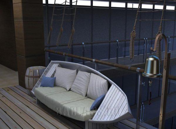 Диван-лодка