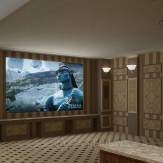 Комната домашний кинотеатр