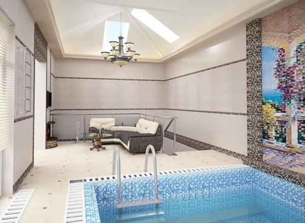 Комната с бассейном