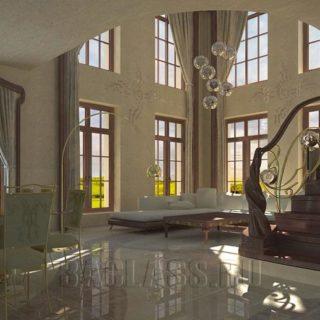 Пример элитного дизайна коттеджей в Москве