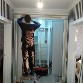 установка гардеробной комнаты