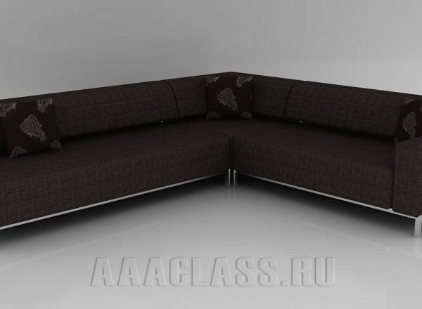 черный диван на ножках