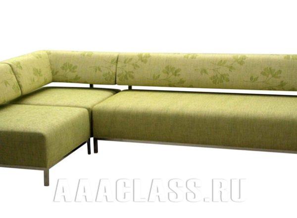 угловой зеленый диван