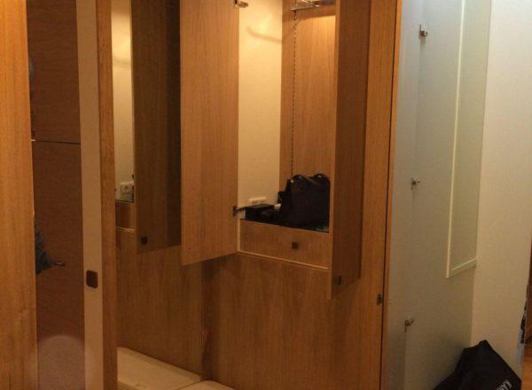 шкаф-гардероб на заказ в Москве с отсеком для сумок: изготовлено по индивидуальному проекту
