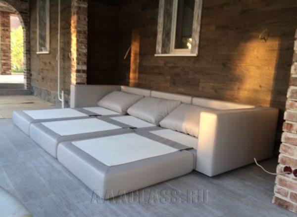 тканевой диван кровать на заказ по индивидуальным размерам в Москве