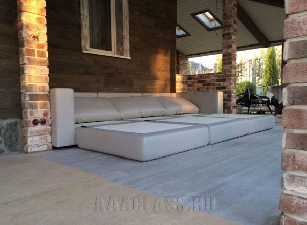 большой раскладывающийся диван на заказ по индивидуальным размерам в Москве