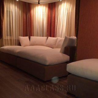 большой диван в нишу на заказ по индивидуальным размерам в Москве