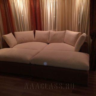 полукруглый диван на заказ по индивидуальным размерам в Москве