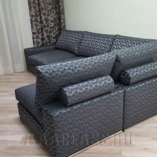 угловой модульный диван БАЛИ на заказ с узором от мебельного ателье ААА-Классика