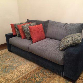 компактный тканевый модульный диван Бали на заказ по индивидуальным параметрам от мебельного ателье ААА-Классика