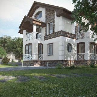 Дизайн проект фасада коттеджа и интерьера
