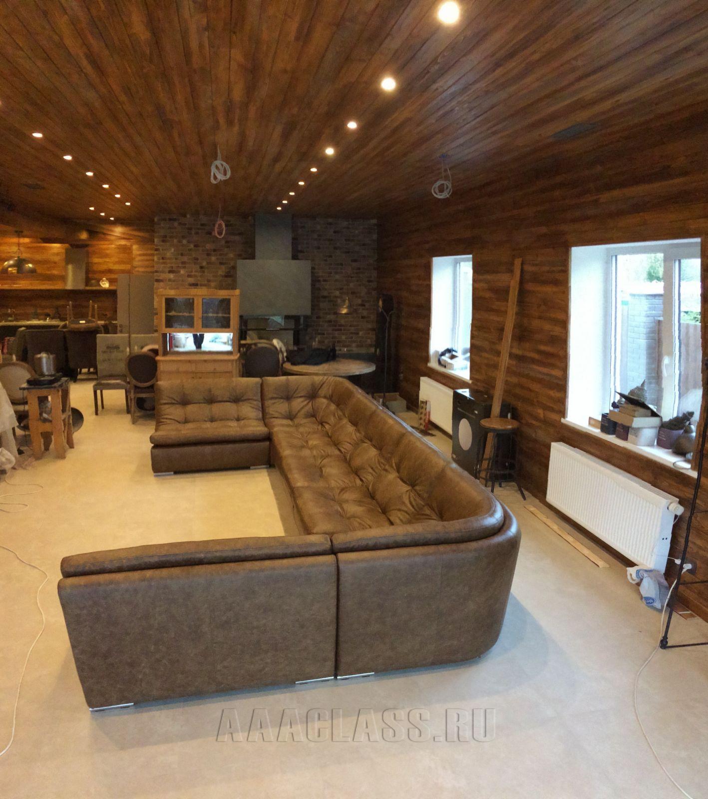 модульный диван на заказ с каретной стяжкой