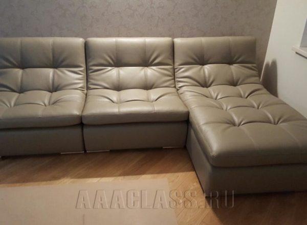 диван на заказ с кушеткой по индивидуальным размерам от мебельного ателье ААА-Классика