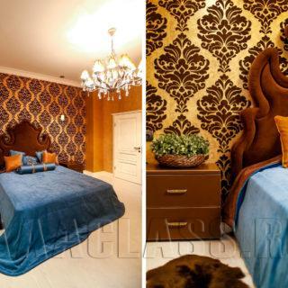 изготовление дизайнерской кровати на заказ с высоким изголовьем
