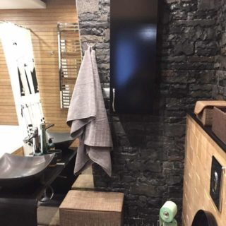 навесной шкаф в ванную на заказ