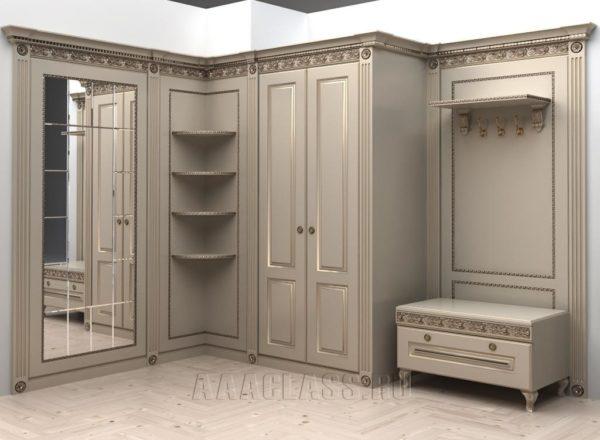 шкаф с зеркалом в прихожую по индивидуальному заказу
