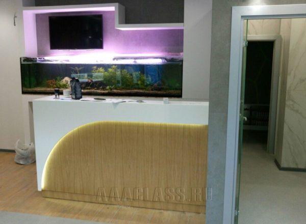 Изготовление корпусной мебели по индивидуальным проектам: стойки администратора на заказ для стоматологии БП