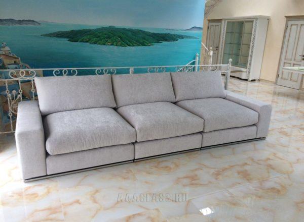 Модульный диван на заказ в загородный дом от мебельного ателье ААА-Классика