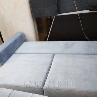 изготовление нестандартного модульного дивана Бали по индивидуальному проекту с механизмом трансформации евро-книжка от мебельного ателье ААА-Классика