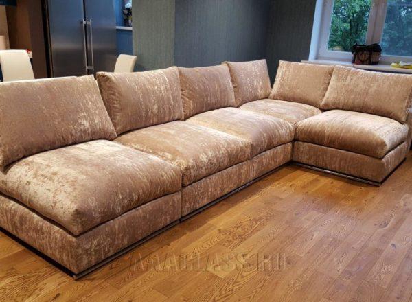изготовление дизайнерского дивана Бали на заказ: модульная конструкция от мебельного ателье ААА-Классика
