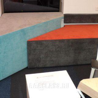 Купить мягкие стеновые панели на заказ по индивидуальному проекту из ППУ и холлкона с подсветкой для офиса или дома