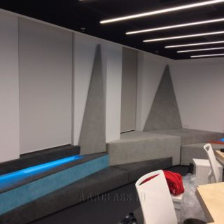Мягкие стеновые панели на заказ из холлкона и ппу для офиса в Москве от мебельного ателье ААА-Классика