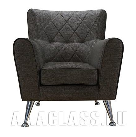 тканевое кресло в черном цвете по индивидуальному размеру
