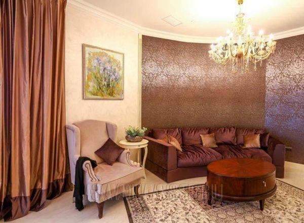 Полукруглый диван на заказ Фиренце по индивидуальным размерам