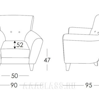 тканевое кресло в красном цвете по индивидуальному размеру
