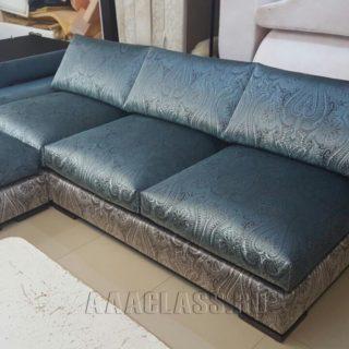модульный угловой диван со спальным местом на заказ в обивке из жаккарда