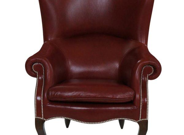 Кожаное кресло для дома с высокой спинкой на заказ по индивидуальному размеру