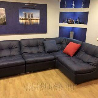 Модульный диван на заказ по индивидуальным размерам в коже