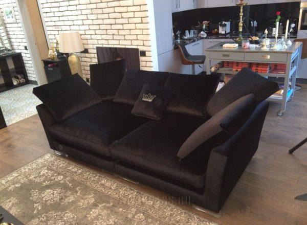 диван Ника по индивидуальному заказу в интерьере квартиры