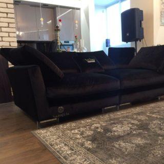 прямой диван из ткани