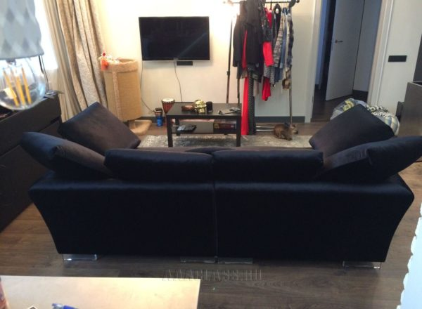 прямой тканевый диван Ника на заказ по индивидуальному размеру