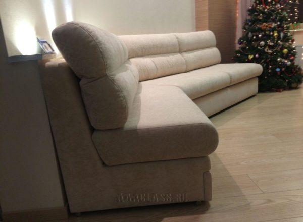 тканевый угловой диван на заказ с механизмом итальянская раскладушка