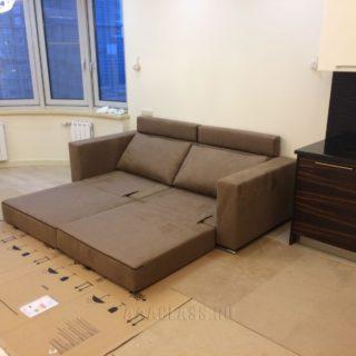 компактный диванчик со спальным местом для небольшой квартиры