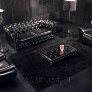 кожаный диван на заказ, модель честер