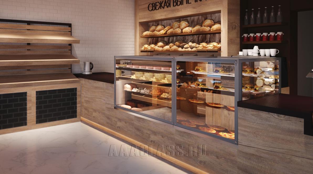 изготовление торговой мебели на заказ: производство мебели для пекарни магазина от мебельного ателье ААА Классика