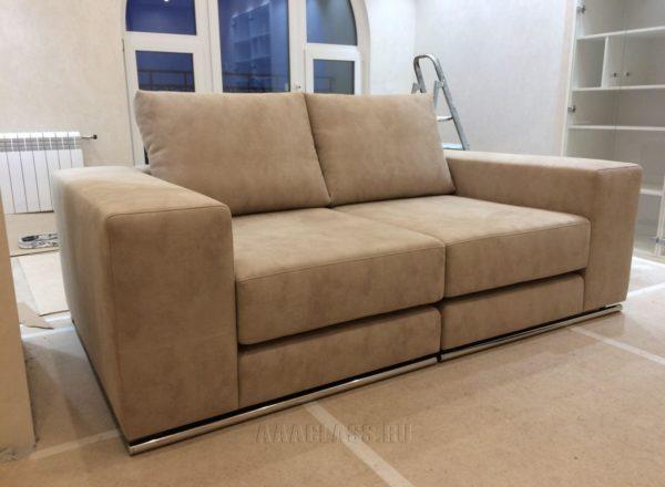 раскладной диван на заказ в кабинет дома - изготовление по индивидуальным размерам в Москве