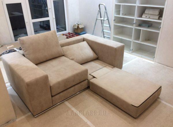 эксклюзивный раскладной диван на заказ для кабинета в доме