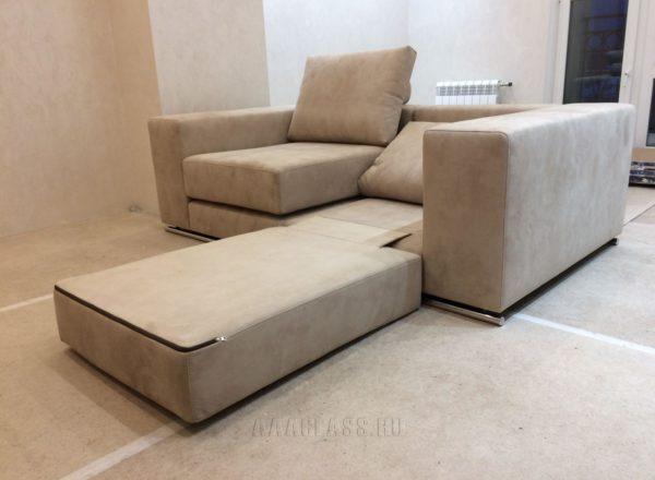 модульный диван на заказ по индивидуальному размеру для кабинета в доме