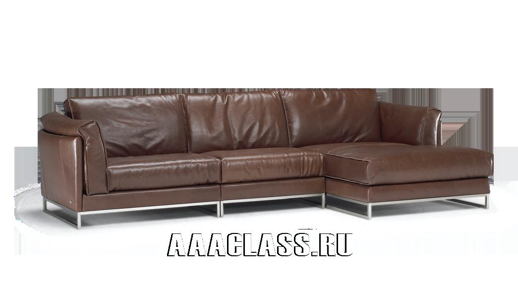 итальянский модульный кожаный диван