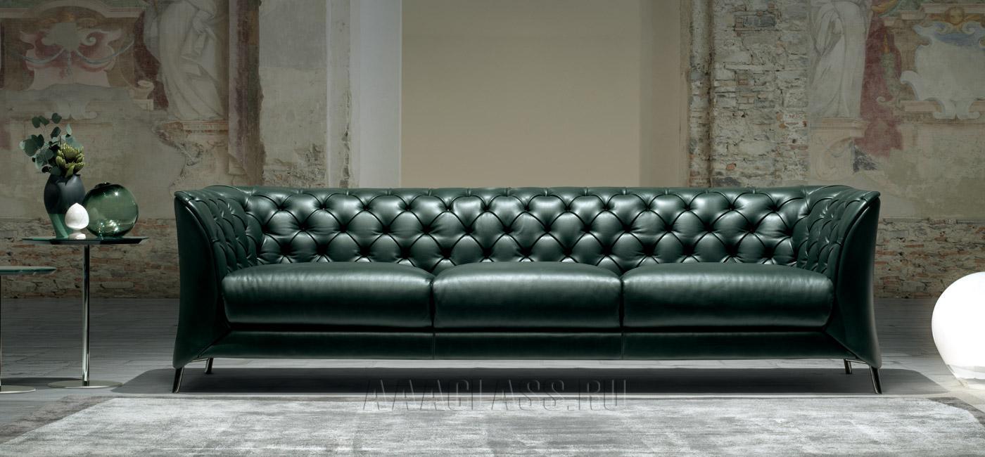 кожаный диван фото в интерьере