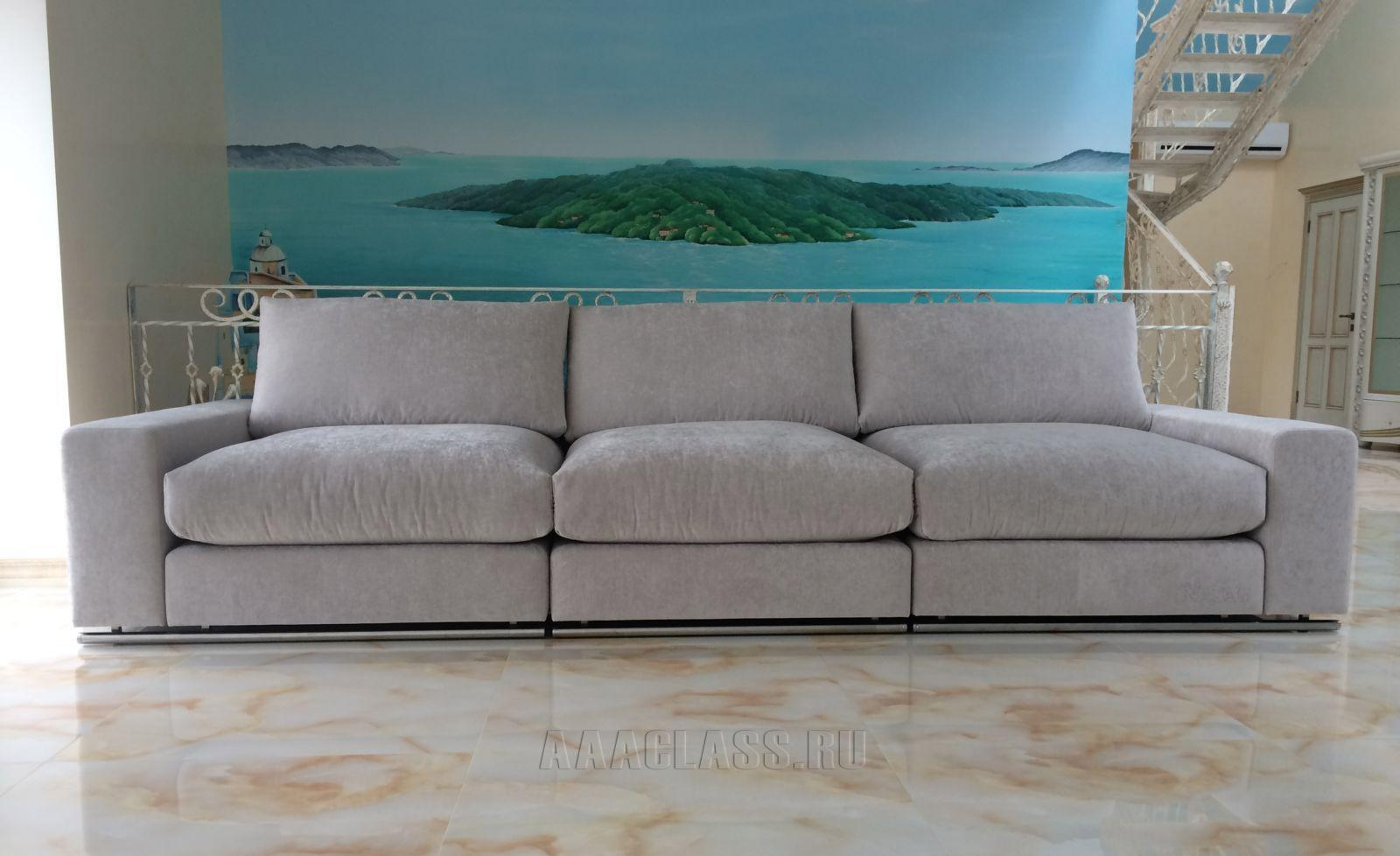 прямой дизайнерский диван российского производства: модель бали