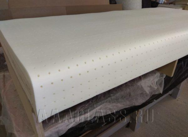 изготовление дивана в ткани алькантара с наполнением из натурального латекса