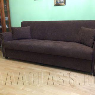 диван в ткани алькантара с наполнением из натурального латекса на заказ по индивидуальным размерам в Москве